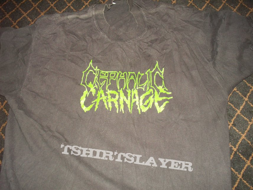 Cephalic Carnage - Logo - Stealing Your Harvest 1999 Tour T-Shirt