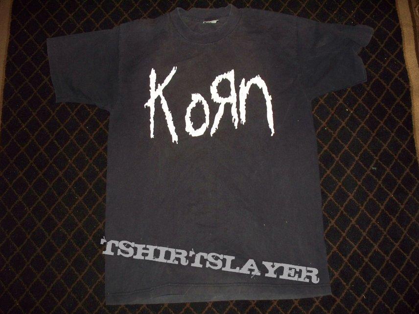 Korn - Original Logo - Straw Man Scarecrow on Barbed Wire Fence - 1994 - T-Shirt