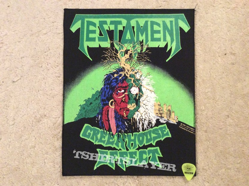Testament - Greenhouse Effect - Back Patch - 1989 - Brockum