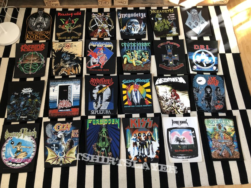 Patches for you! Death Angel Sodom Megadeth Slayer Atrophy Kiss Ozzy Osbourne Suicidal Tendencies D.R.I. Forbidden Protector Metal Church Atlantean Kodex Sepultura Sacred Reich Helloween Running Wild Celtic Frost King Diamond S.O.D.