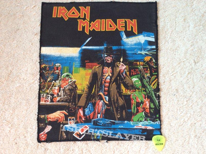 Iron Maiden Stranger In A Strange Land Coffin Patch Black Border Tshirtslayer Tshirt And Battlejacket Gallery