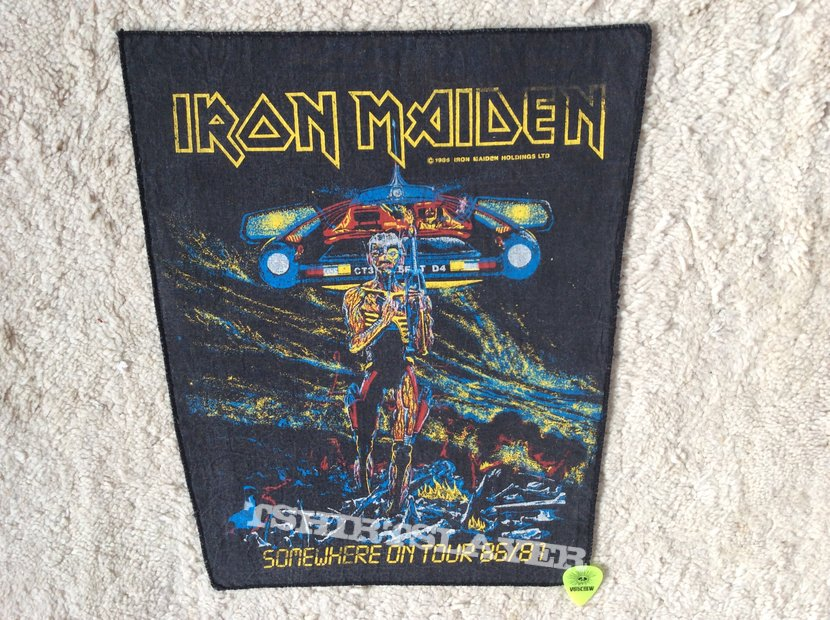 Iron Maiden - Somewhere On Tour - 1986 Iron Maiden Holdings Ltd. - Back Patch
