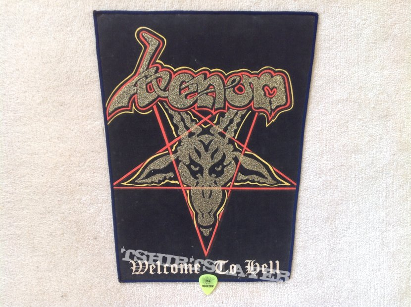 Venom - Welcome To Hell - Blue Border - Vintage Backpatch