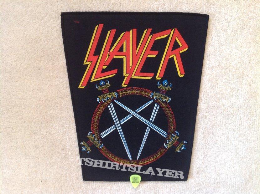 Slayer - Pentagram Logo - Vintage Backpatch