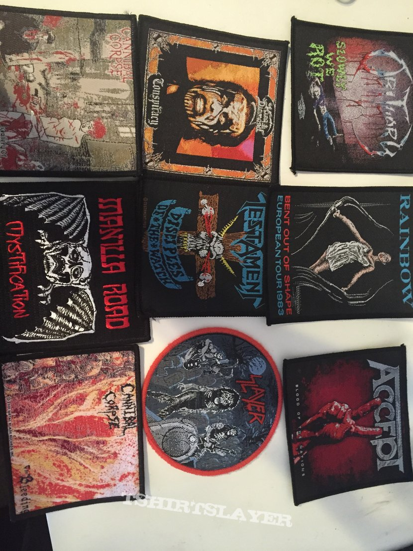 Slayer, Testament, Cannibal Corpse patches