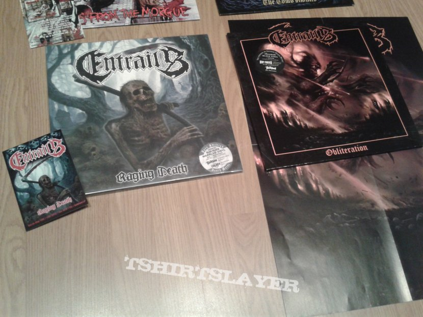 Entrails first press vinyl collection + flyers