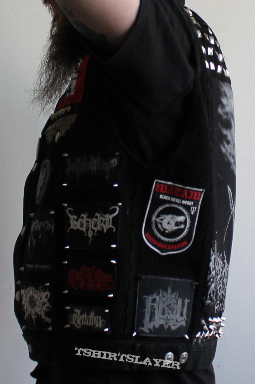 black metal battle jacket