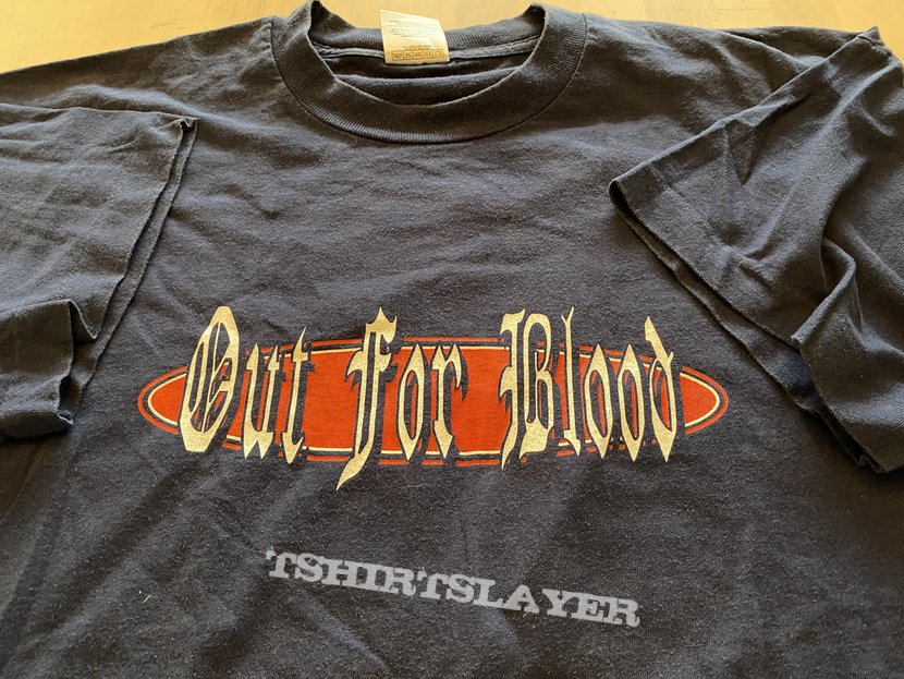 """OUT FOR BLOOD """"brussels hardcore"""" t-shirt"""