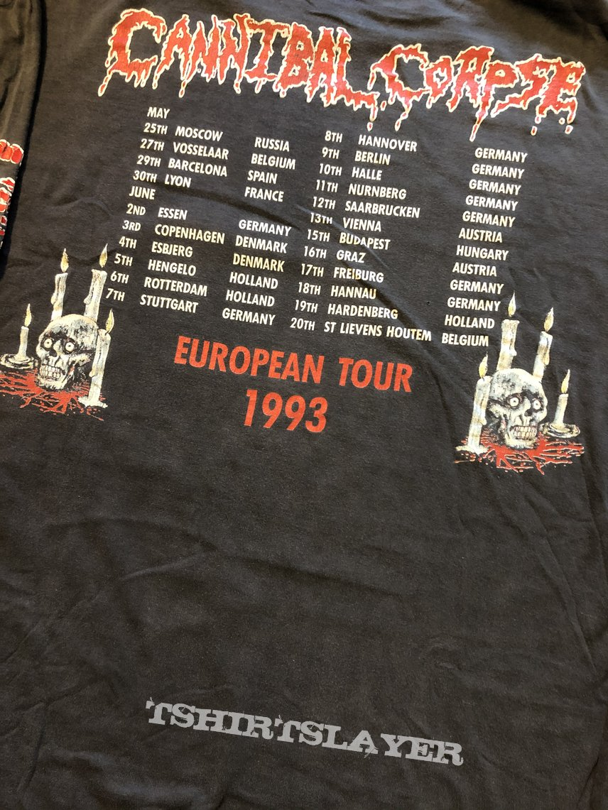 Cannibal Corpse - Tomb Of The Mutilated European Tour 1993 longsleeve