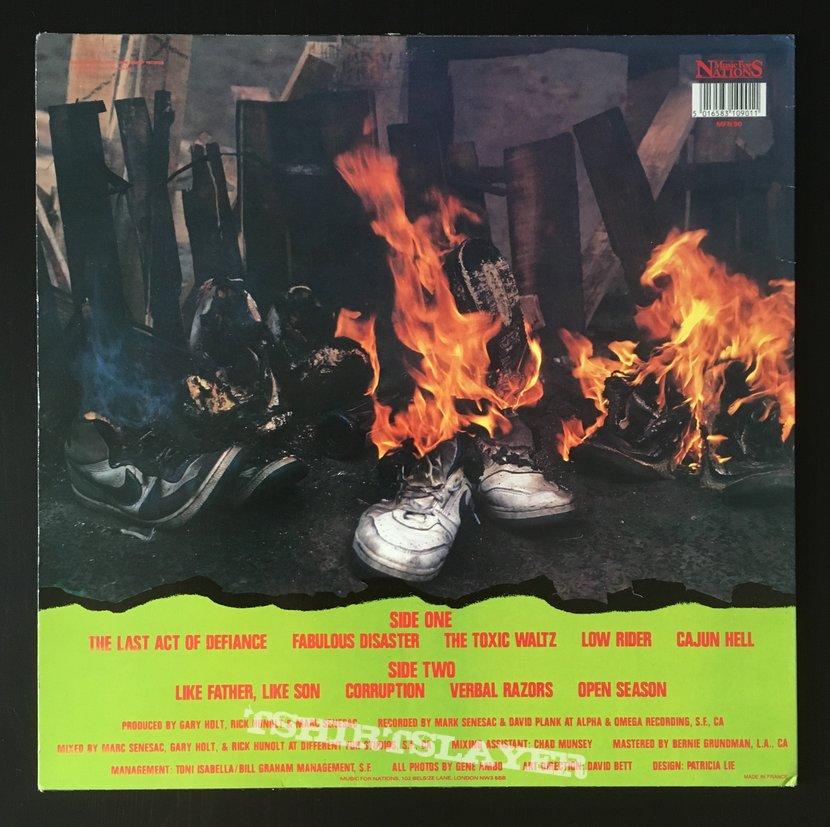 Exodus - Fabulous Disaster LP