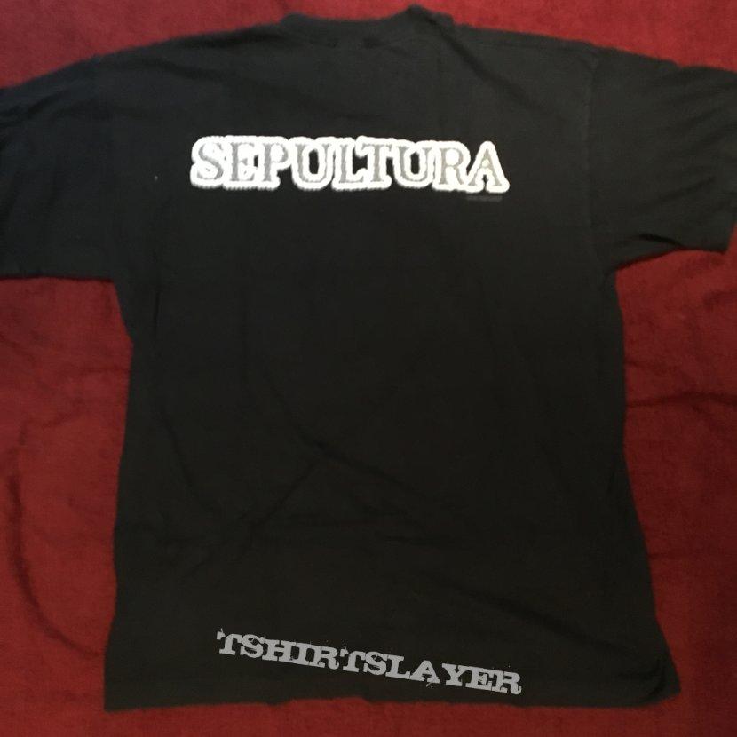 Sepultura logo blue grape 98