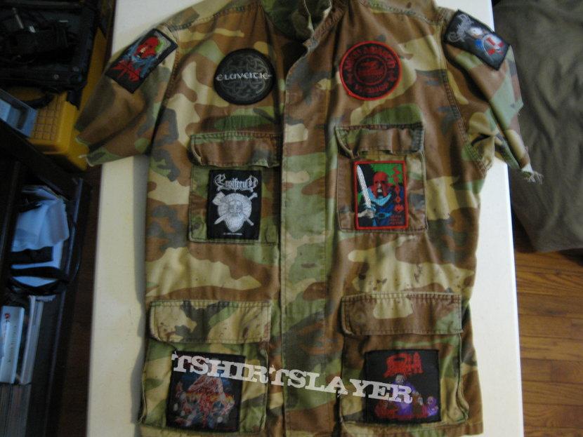 Woodland BDU Short-Sleeve Cutoff/Workshirt-Style Battle Jacket