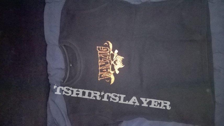 Danzig Skull Girl T-Shirt Medium Black