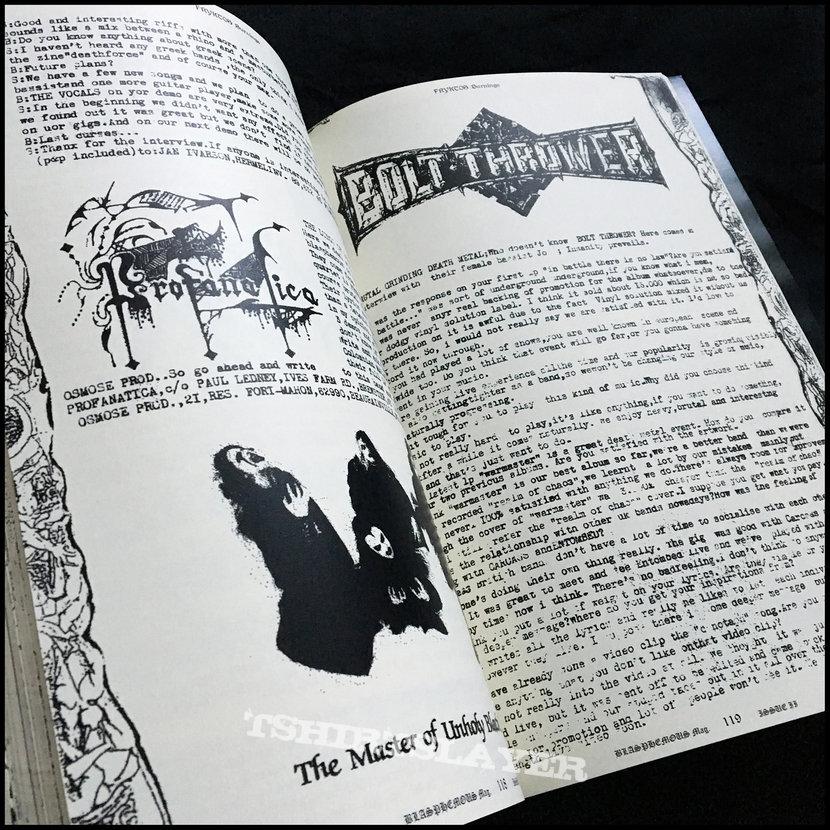 BLASPHEMOUS fanzine anthology book