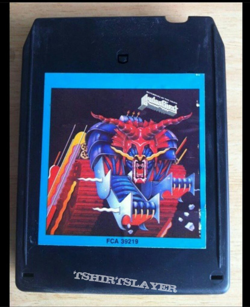 """Inside Of A 8 Track Tape: Judas Priest """"Defenders Of The Faith"""" 8 Track Tapes"""