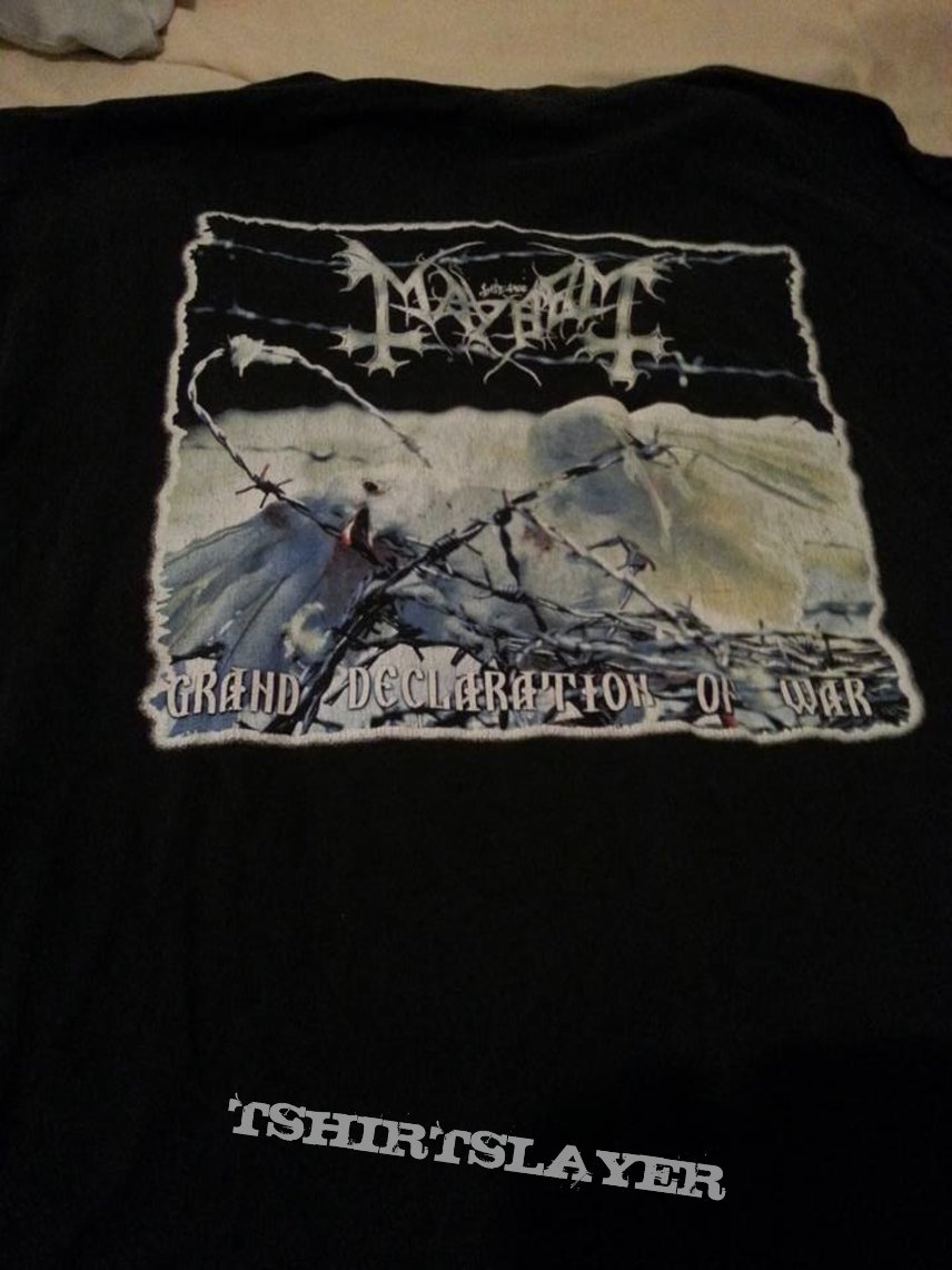 mayhem grand declaration of war ltd ed shirt