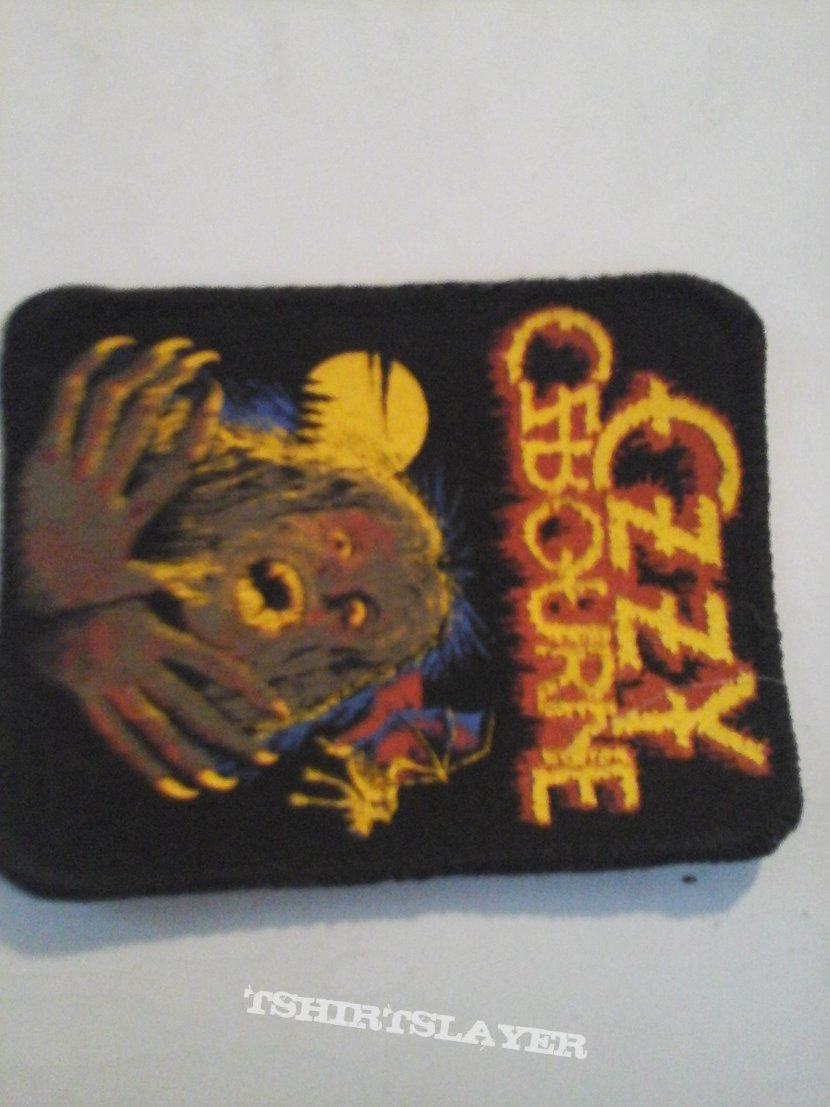 SOLD SOLD 1980s Ozzy osbourne  patch Thanks  Ralph