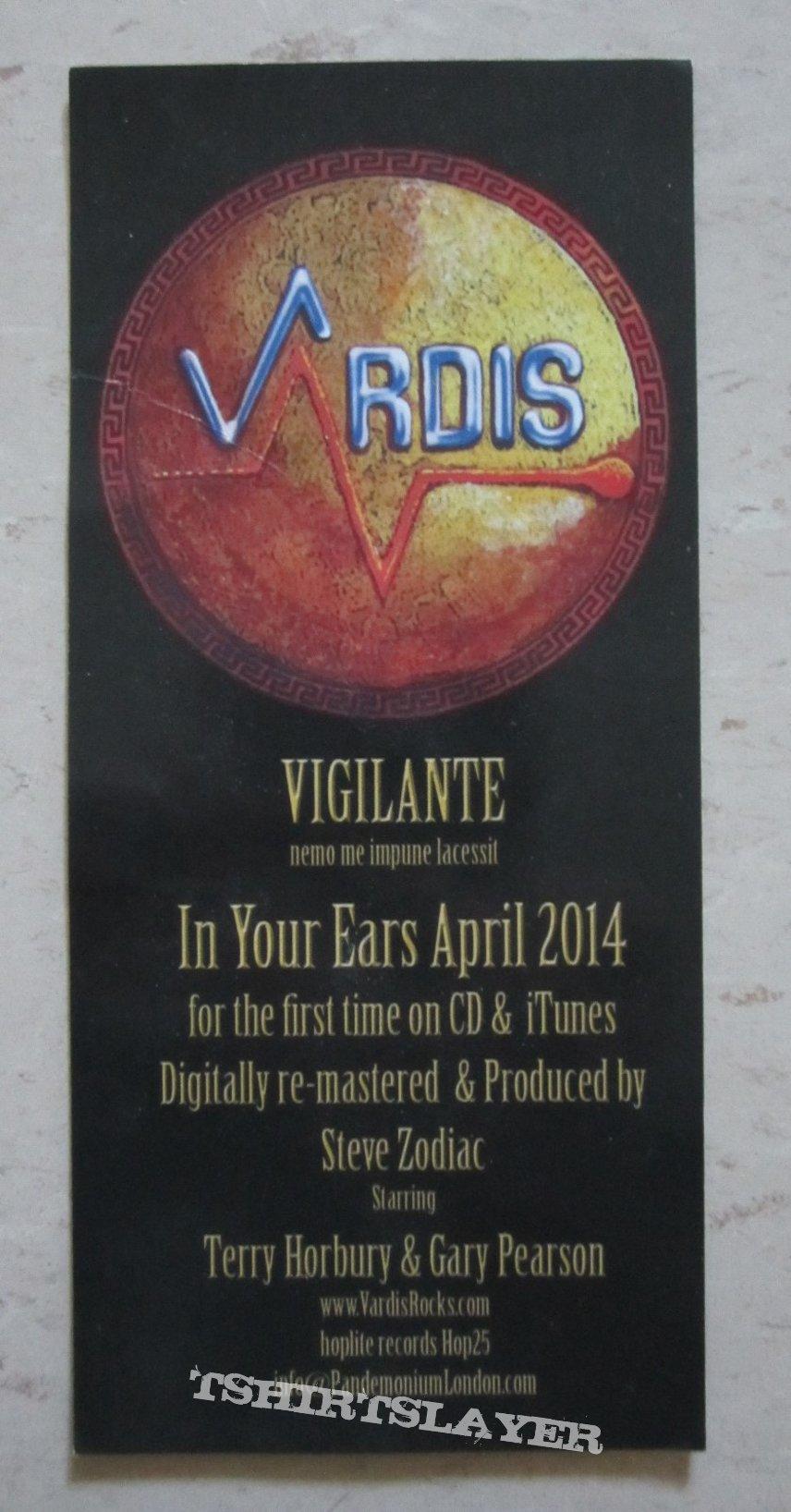 Vardis - Vigilante (promo flyer)