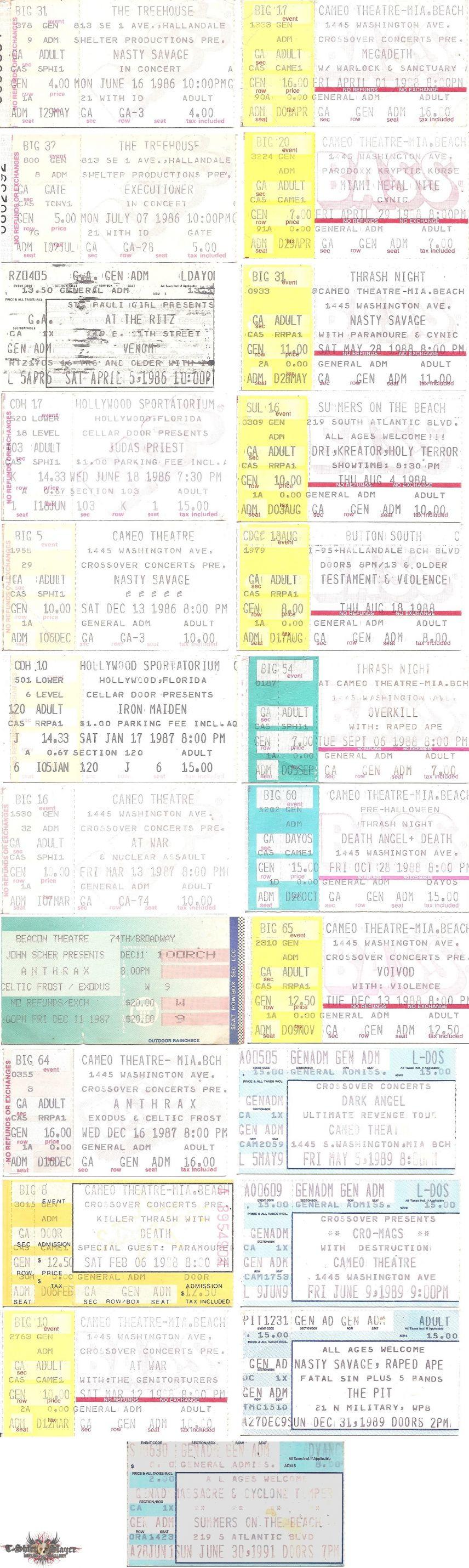 Various Artists - Ticket Stubs (1986 - 1991)