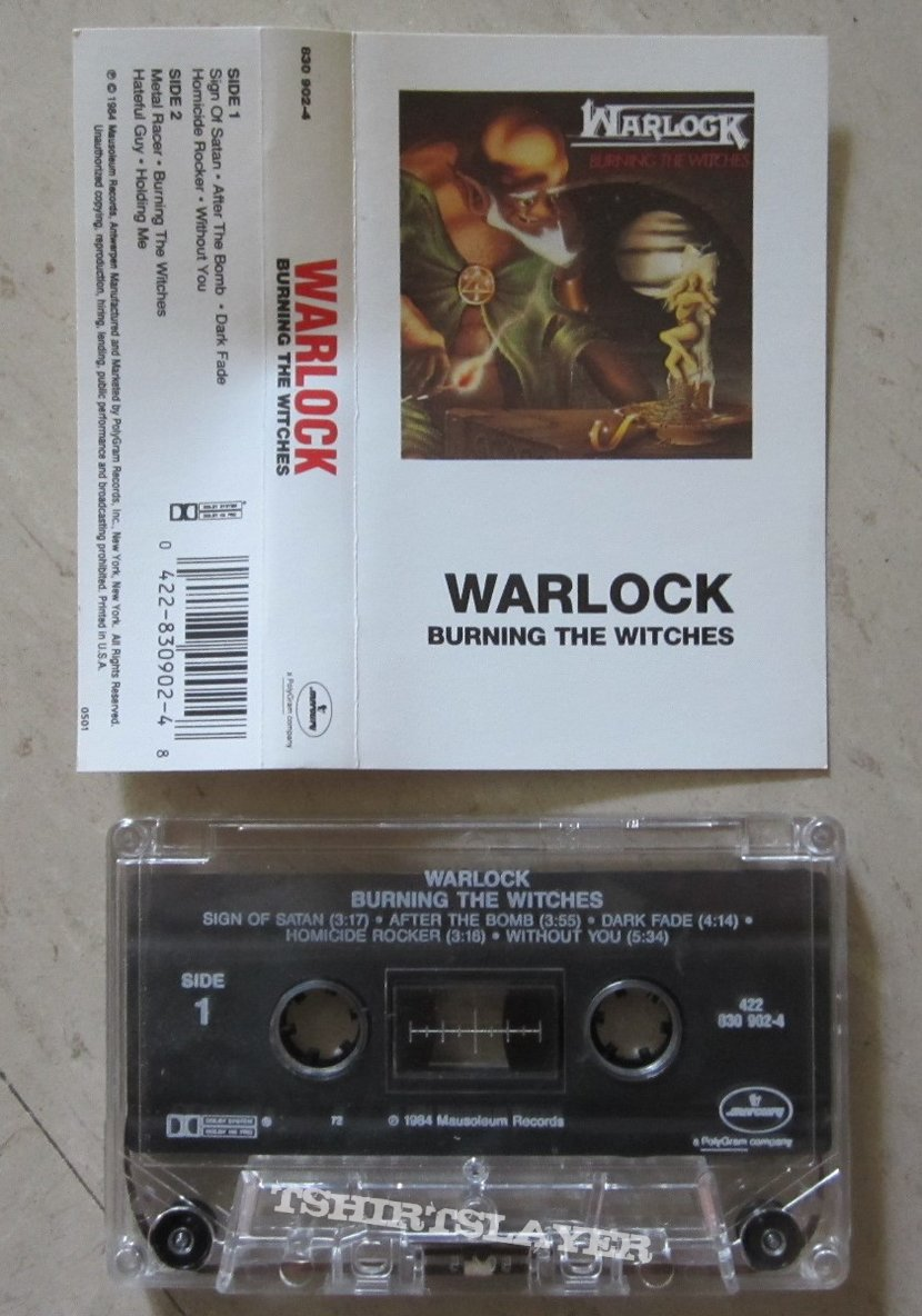 Warlock ‎- Burning The Witches (tape)