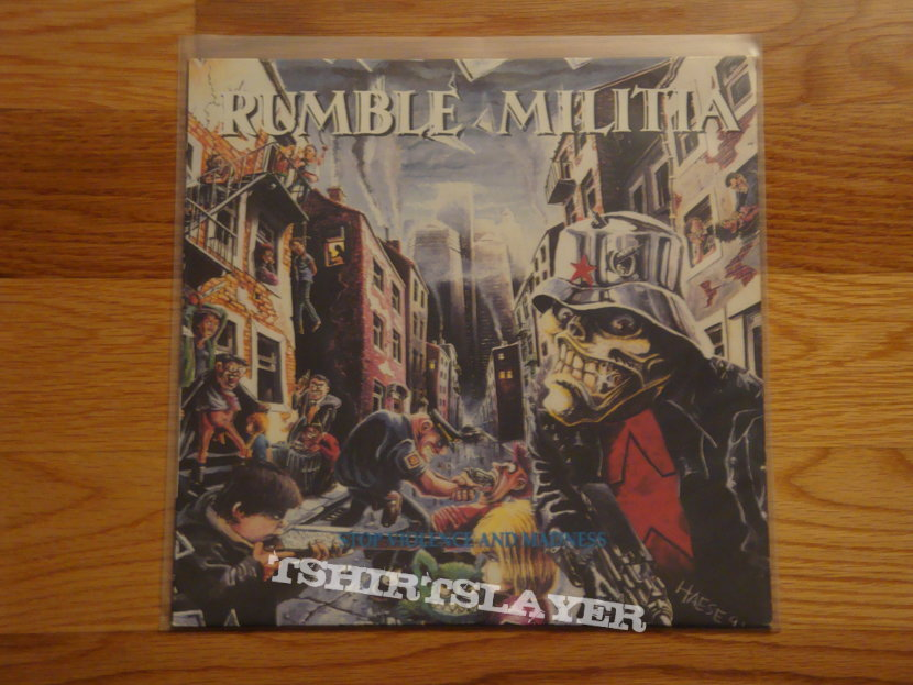 Rumble Militia Stop Violence and Madness LP