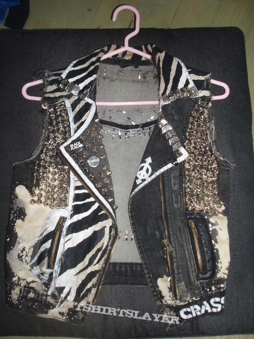 crusty punk denim jacket