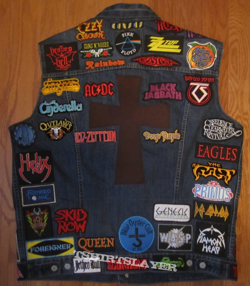 Classic Rock and Heavy Metal Patch Vest