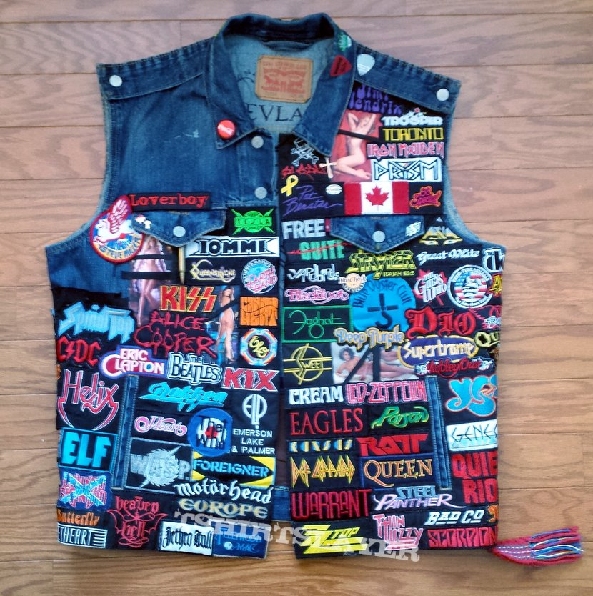 Classic Rock and Heavy Metal Patch Vest (2017)