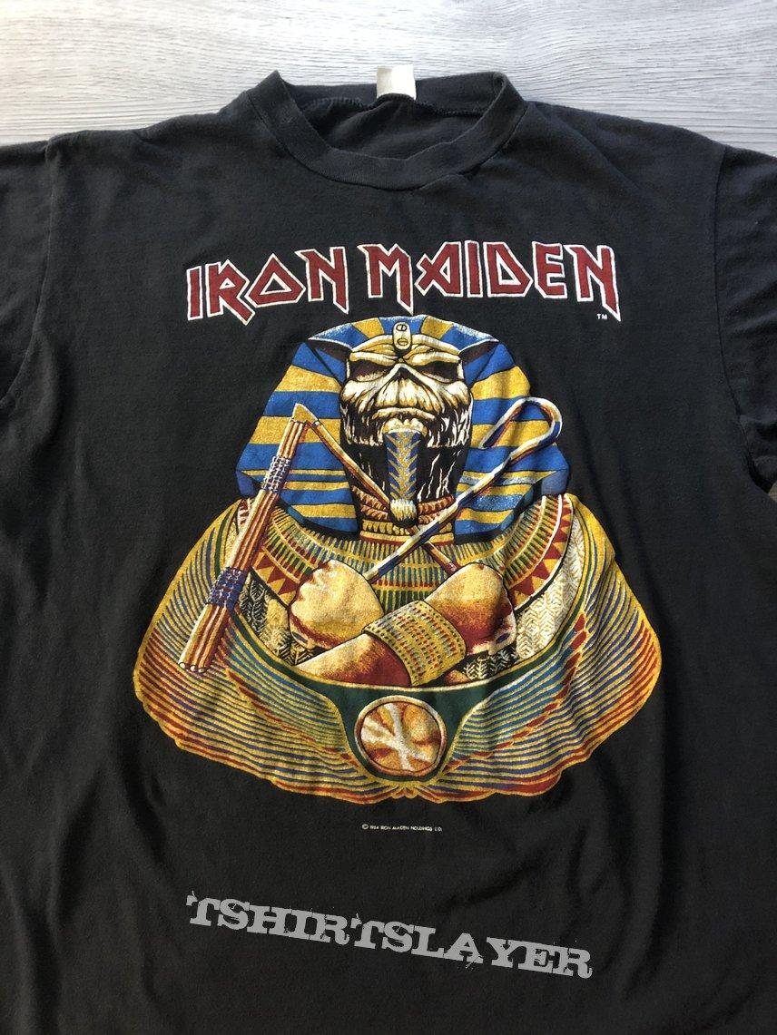Iron Maiden Powerslave shirt 1984