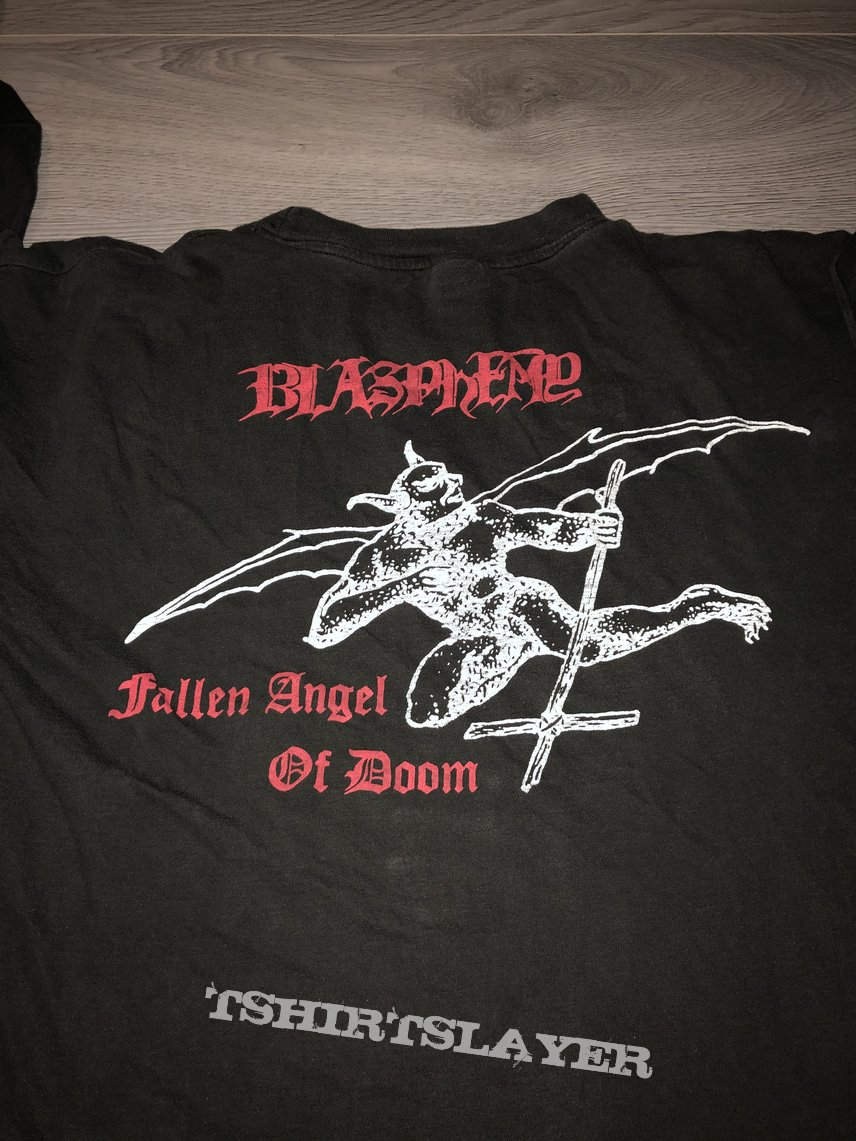 Blasphemy Fallen Angel of Doom 90s Longsleeve
