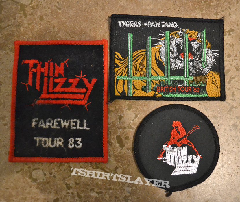 VINTAGE PATCHES, tygers of pan tang, thin lizzy