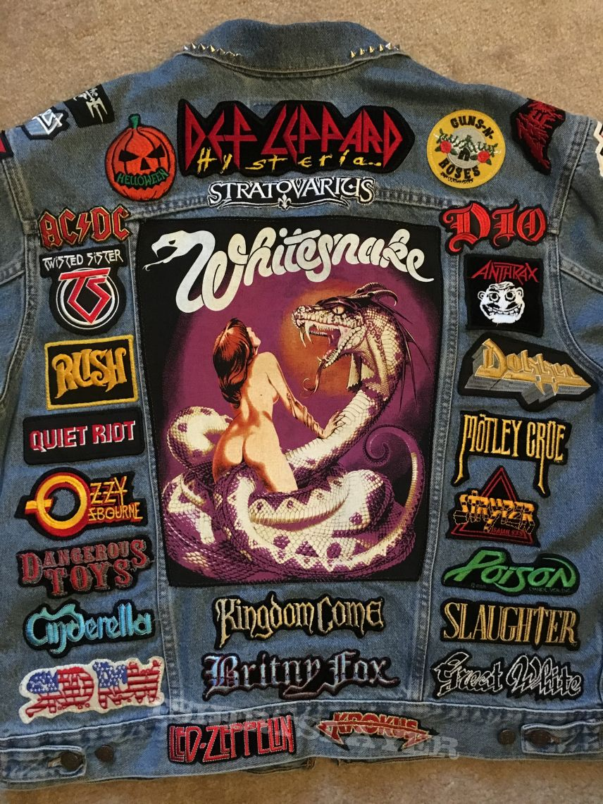 80's Hair Band & Current Power Metal Tribute Battle Jacket