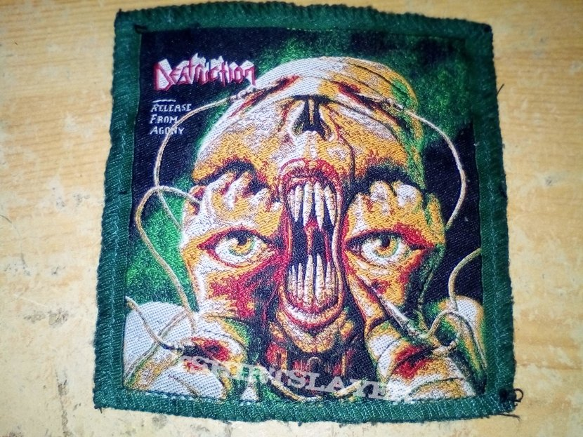 Destruction - Release From Agony green border patch