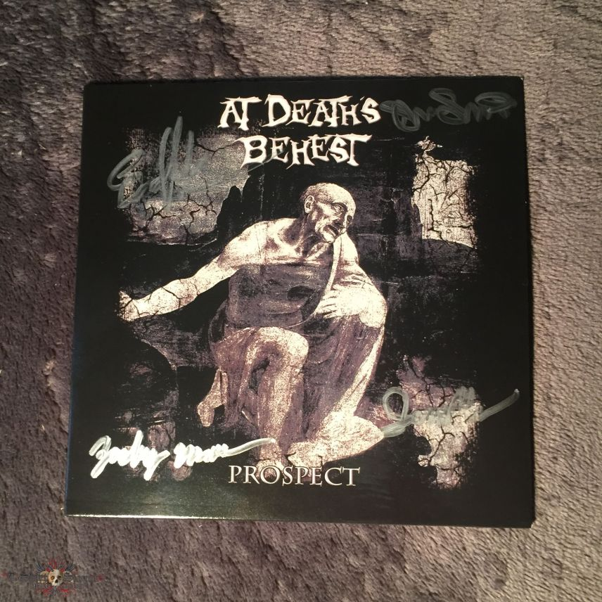At Death's Behest Shirt and Signed Album