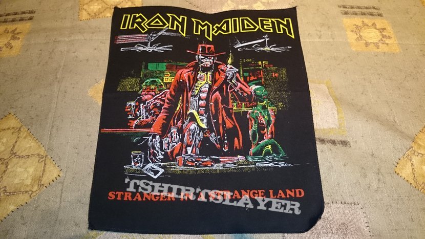 Iron Maiden Stranger In A Strange Land Vintage Backpatch