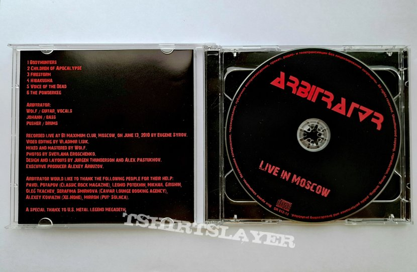 "DVD Arbitrator ""Live in Moscow"""