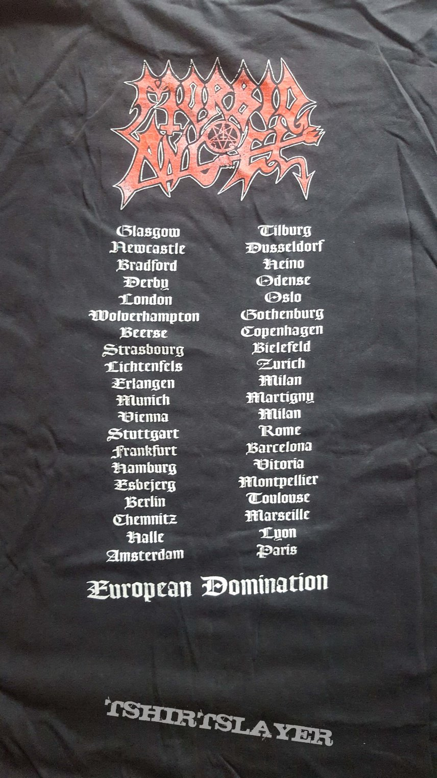 SOLD - Morbid Angel - European Domination LS XL 1995