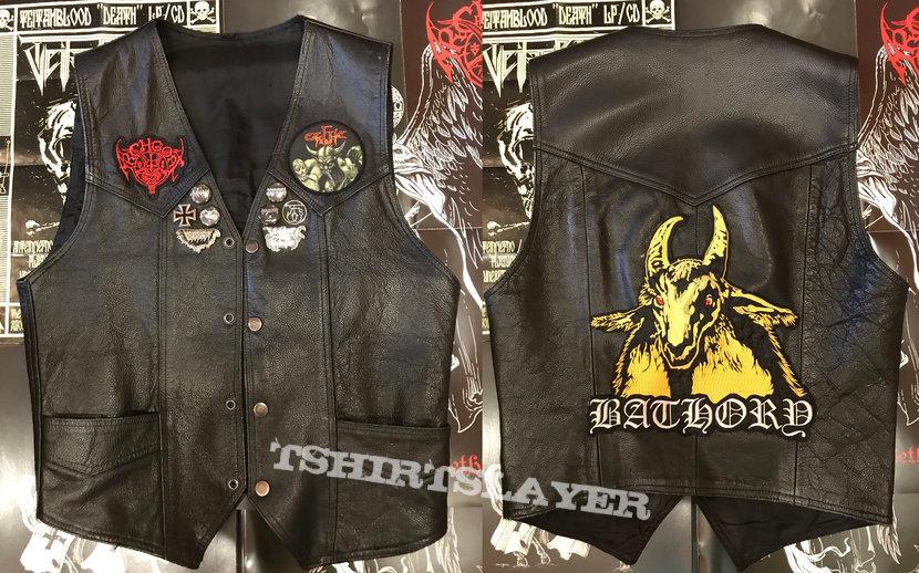 Black Metal leather vest