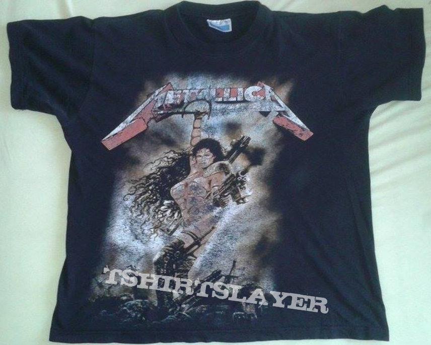 Metallica bootleg shirt with fantasy art | TShirtSlayer TShirt and