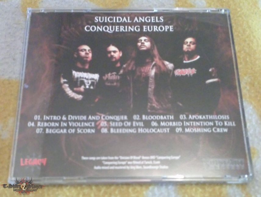 Suicidal Angels - Conquering Europe LIVE CD