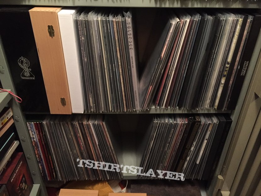 Vinyl collection in bank vault