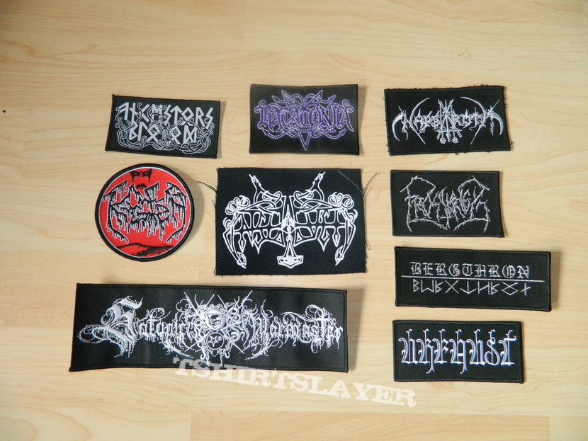 Patches, mainly Black Metal