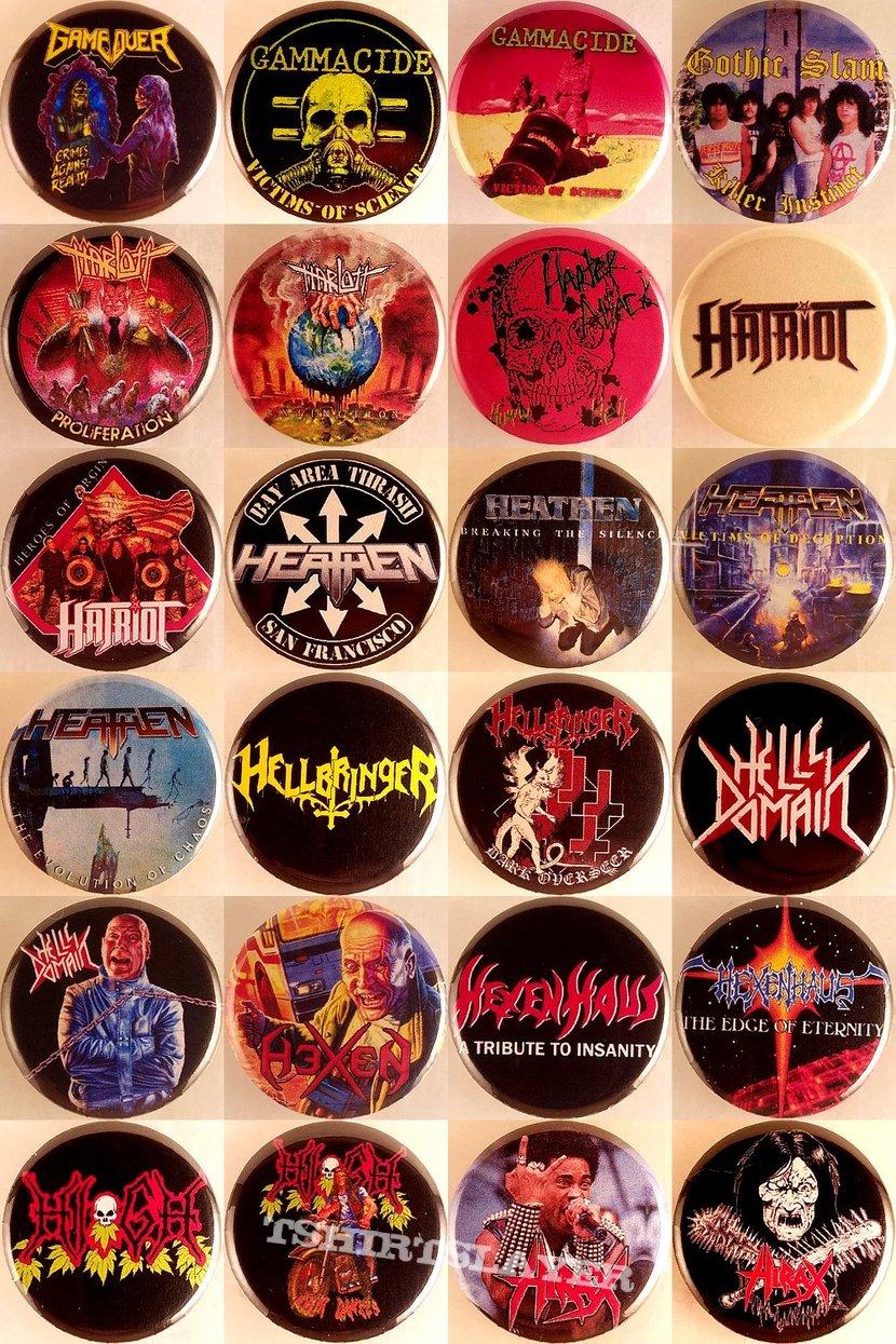 Thrash, Crossover Thrash, Death/Thrash, Speed Metal Badges