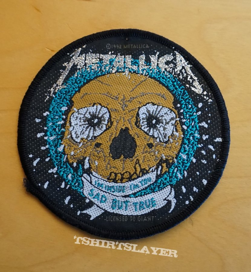 "Metallica ""Sad But True"" round patch woven"