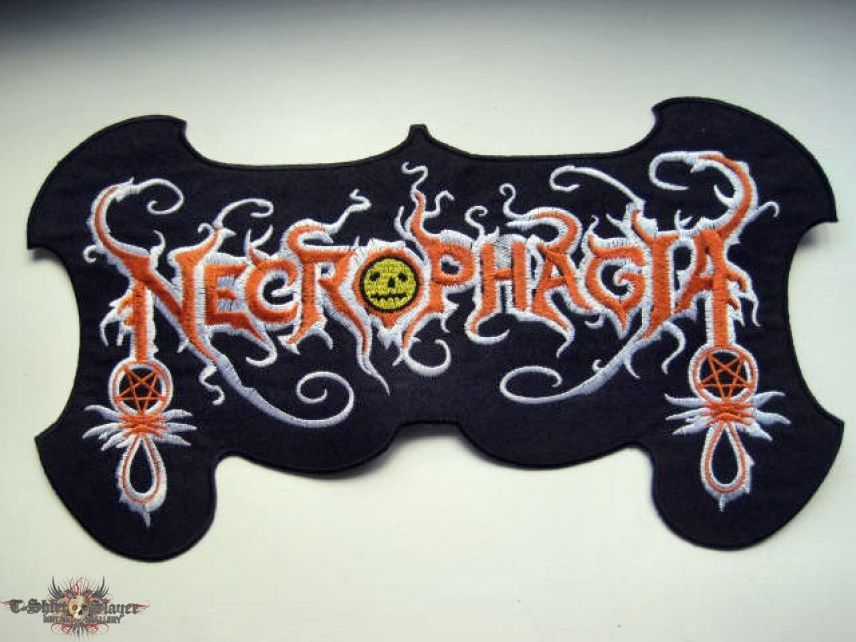 Necrophagia shaped backpatch patch 14X25 bp74 new