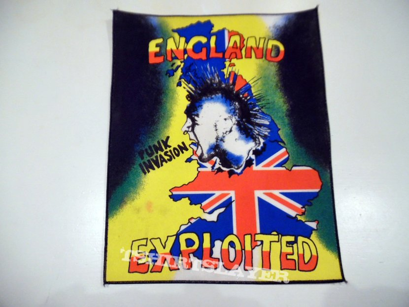 The Exploited 80's vintage back patch new bp335  29x25x35