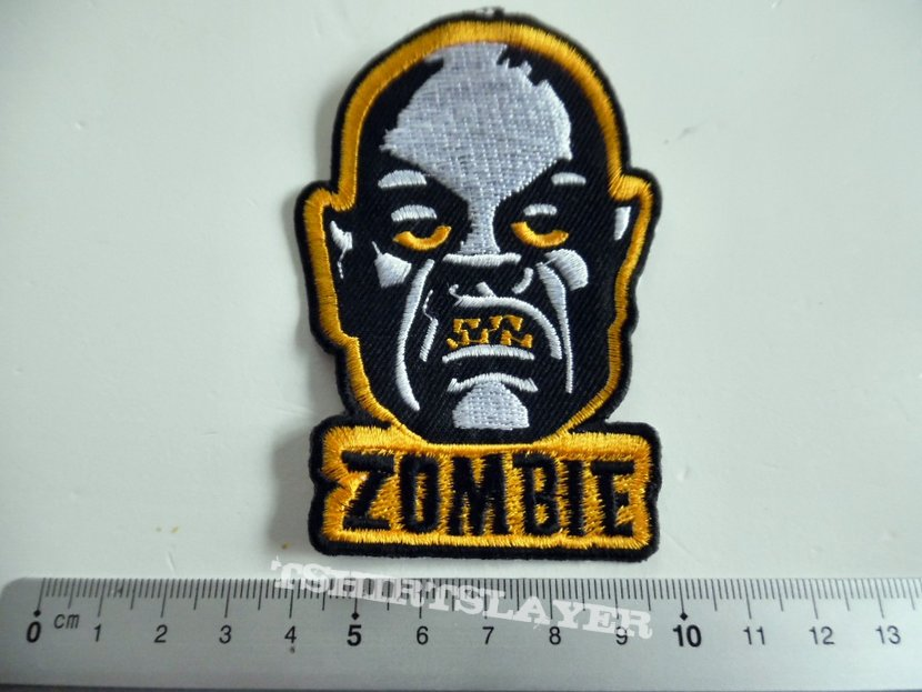Rob Zombie shaped patch w123 new white zombie