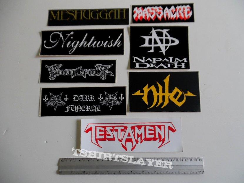 New big stickers testamentnile massacrefinntroll napalm death tshirtslayer tshirt and battlejacket gallery