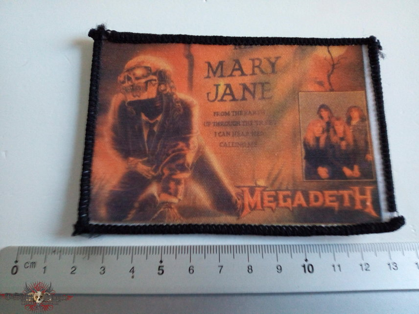 MEGADETH vintage 80's patch 57 new 7x11.5 cm