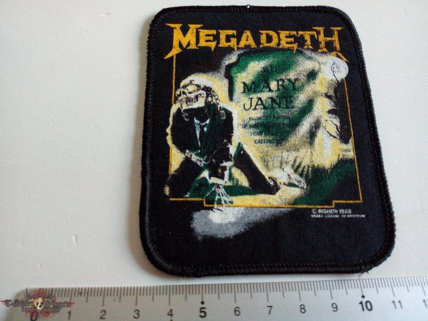MEGADETH vintage 1988 patch 13 new 8.5x10.5
